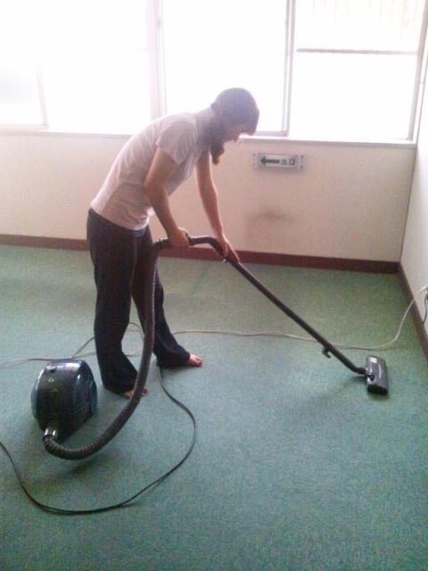大掃除初日の午後…